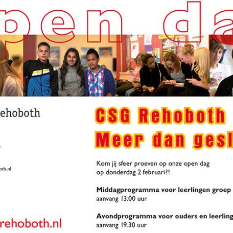 Rehobth Open Dag Flyer achter