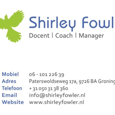 Shirley Fowler visitekaartje voor